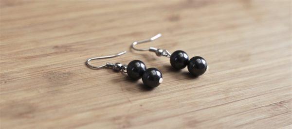 Boucles d'oreilles 2 perles